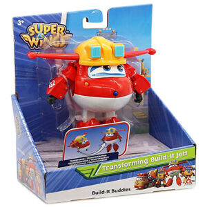 Super Wings Transforming Build-It Jett Action Figure Playset for Ages 3+