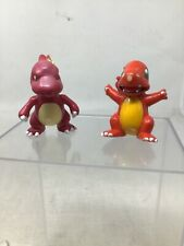 Pokemon TOMY CGTSJ Charmander Charmeleon PVC Vtg Figure Lot Of 2 90s