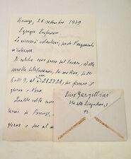 BARGELLINI Piero - Lettera Manoscritta Autografa 1979 con Busta Originale Rarità