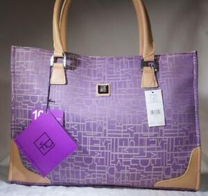 "Diane von Furstenberg Fashion Travel Tote Padded Laptop 18"" Lavender # 20216 New"