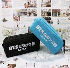 BTS Kpop Canvas Pencil Case Korean Fashion Back To School Merchandise 2 Colours