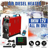 8000W 12V All In One Diesel Air Heater Black LCD Thermostat Remoted RV Trucks