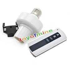 Wireless Remote Control E27 Screw Light Lamp Bulb Holder Cap Socket Switch New