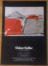 GERMAN EXHIBITION POSTER 1976 - OSKAR KOLLER - PAITING AND GRAPHIC * ART PRINT