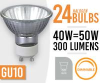 24x  HALOGEN LAMP LIGHT BULBS GU10 50W MAINS 240V  - New Pack of 24