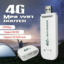 Unlocked 4G LTE WIFI Wireless USB Dongle Mobile Broadband 150Mbps Modem Sim Card