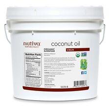 Nutiva Virgin Coconut Oil 1 gallon organic CFS651 best by 2018-09-07