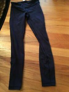 Ivivva girl navy blue activit legging size:7