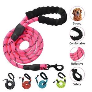 1.5M Durable Nylon Reflective Pet Running Tracking Leashes Lead Dog Leash