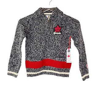 Canada Olympics Toddler Wool Sweater Full Zip NWT Sz 5/6