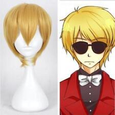 New Anime Homestuck Dave Strider Short Yellow Blonde Cosplay Wig V20