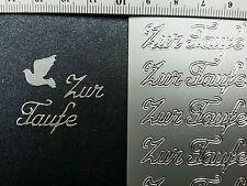 Stickerbogen, Zur Taufe, Silber Nr.  427