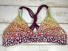 Athleta  XS Sports Bra Multicolor Bikini Top Triangle Floral 021-0327.0