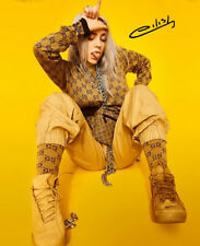 * BILLIE EILISH SIGNED POSTER PHOTO 8X10 RP HOODIE AUTOGRAPHED