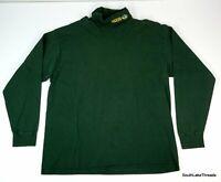 VTG Mens Artex NFL Green Bay Packers Turtleneck Shirt XL Green Embroidered USA