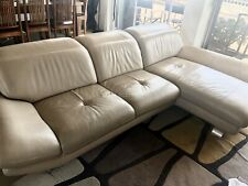 Nick Scali Leather Sofa Couch with Chaise