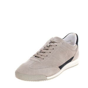 DOCKSTEPS Suede Leather Sneakers Size 41 UK 7.5 US 10 Two Tone Embossed Logo