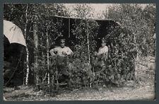Foto Offiziere RIR 229 Ostfront Unterstand Tarnung Alexandrowo Łódź Thorn 1915