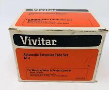 VINTAGE Vivitar AT-1 Automatic Extension Tube Set NOS 12mm, 20mm & 35mm COMPLETE