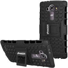 AMZER Hybrid Warrior Case - Black/ Black For LG G4