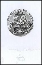 Tadeusz Szumarski C2 Exlibris Bookplate Centipede Animals 1689