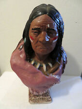 Antique Vtg Southwestern Indian Style Geronimo Bust Cigar Store AS IS