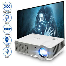 Multimedia 4000lm LCD LED Projector Support 1080p HD Home Theater Video HDMI USB