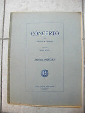 Partitur concerto für Oboe und Orchester Jacques murgier music -blatt