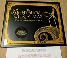 THE NIGHTMARE BEFORE CHRISTMAS PICTURE BOOK + DVD (UNREAD) TIM BURTON + DISNEY