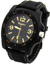 Mens Black/Gold Fashion Boy Size Casual Silicone Quartz Wrist Watch Watches ON2