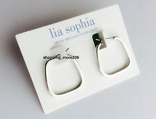 "Lia Sophia ""Mod"" Silver Tone Earrings"