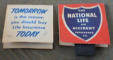 National Life Ins. Advertising Sewing Needles Case/Folder Dix & Rand Needles