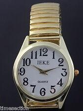 Montre Quartz Homme de Marque Anigo OR Bracelet Extensible Sans Fermoir