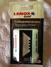 Lenox Gold 100 Pack Titanium Edge Blades Box,Carpet,Drywall Cutter Utility Blade
