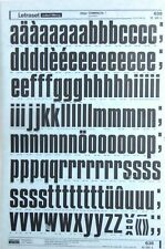 LETRASET Rub On Letter Transfers 120pt COMPACTA (#638) 34.6mm
