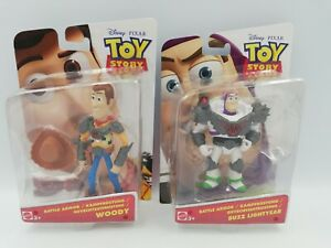 Disney Pixar Toy Story Battle Armor Woody and Buzz Figures Mattel 2015