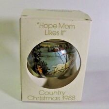 Schmid 1988 Lowell Davis Country Christmas Third Le Ornament - Hope Mom Likes It