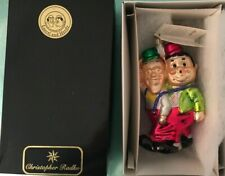 """Christopher Radko """"Exit Stage Right"""" Laurel & Hardy Ornament 99-Lah-01"""