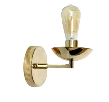 Brass Wall Lamp with Brass Shade Exclusive Interior light easy to fit