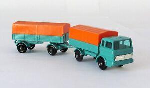 Vintage Lesney Matchbox Lot #1 Mercedes Truck #2 Trailer Regular Wheel 1968