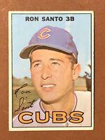 1967 Topps Ron Santo Card #70 EX-NM HOF Chicago Cubs