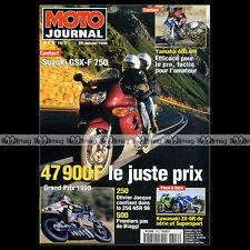 MOTO JOURNAL N°1312 KAWASAKI ZX-6R KLX 300 R YAMAHA 400 WRF SUZUKI GSXF 750 1998