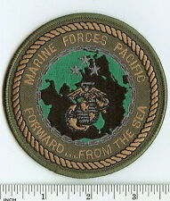 USMC Marine Corps Forces Pacific MARFORPAC subdued OD Marines PATCH Fwd from sea
