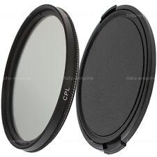40,5mm filtro CPL POLARIZADOR & objetivamente tapa lens cap Green. l para 40,5mm rosca