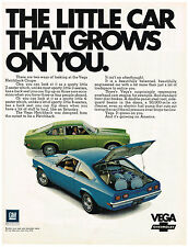 Vintagr 1971 Magazine Ad Chevrolet Vega The Little Car That Grows On You