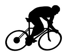 Cycling man sticker, bicycle man vinyl decal, cycling decals