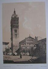 1973 CATTEDRALE DI SAN ZENO' A. Durand litografia Pistoia