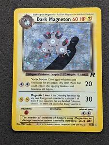 11/82 | Dark Magneton HOLO | Team Rocket | Pokemon Card | Played