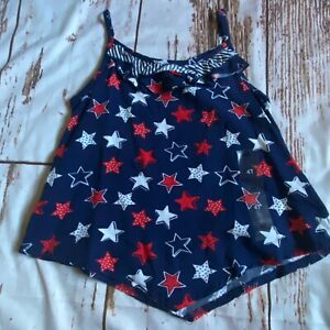 Epic Threads girls star hankerchief tank top-navy blue-4T