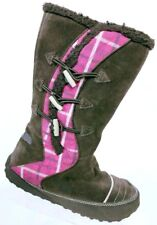 Sorel Girl's Suka 2 Brown Pink Suede Toggle Winter Snow Boots Size 5